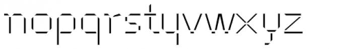 Cut Sans Serif Font LOWERCASE