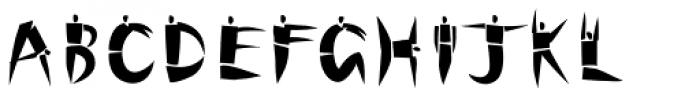 Cutout Std Font LOWERCASE