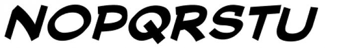 Cutthroat Lower Bold Italic Font UPPERCASE