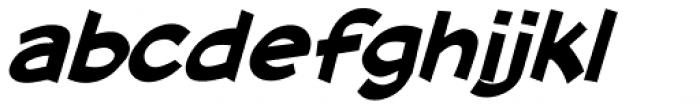 Cutthroat Lower Bold Italic Font LOWERCASE