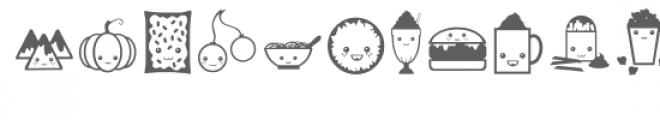 cutie foodie dingbats Font LOWERCASE