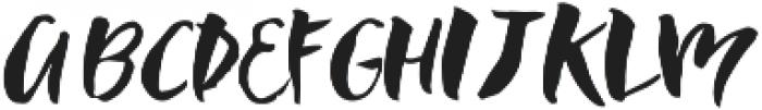 CW Brush otf (400) Font UPPERCASE