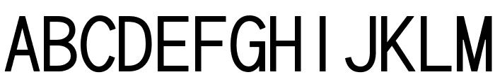 cwTeXHei Font UPPERCASE