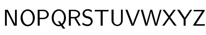 cwTeXYen Font UPPERCASE
