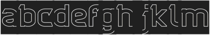 CYBERTOOTH-Hollow-Inverse otf (400) Font LOWERCASE