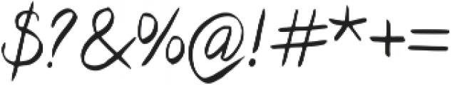 Cyclamen Regular otf (400) Font OTHER CHARS
