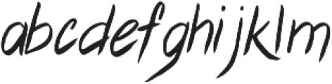 Cyclamen Regular otf (400) Font LOWERCASE