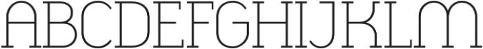 Cyclic Light otf (300) Font UPPERCASE