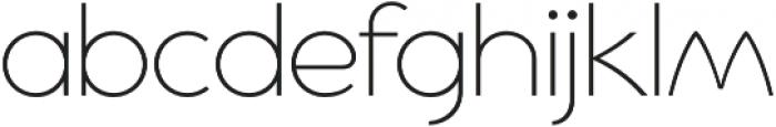 Cyclic Sans Light otf (300) Font LOWERCASE