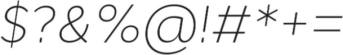 Cyntho Pro ExtraLight Italic otf (200) Font OTHER CHARS