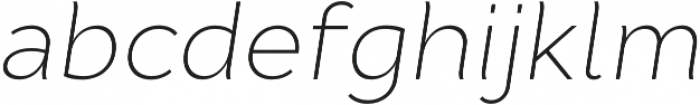 Cyntho Pro ExtraLight Italic otf (200) Font LOWERCASE