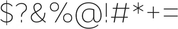Cyntho Pro ExtraLight otf (200) Font OTHER CHARS