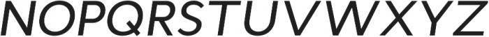 Cyntho Pro Medium Italic otf (500) Font UPPERCASE