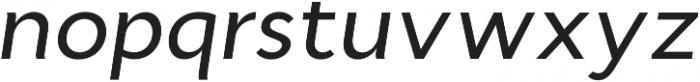 Cyntho Pro Medium Italic otf (500) Font LOWERCASE