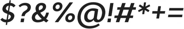 Cyntho Pro SemiBold Italic otf (600) Font OTHER CHARS