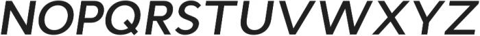 Cyntho Pro SemiBold Italic otf (600) Font UPPERCASE