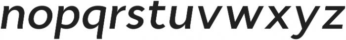Cyntho Pro SemiBold Italic otf (600) Font LOWERCASE