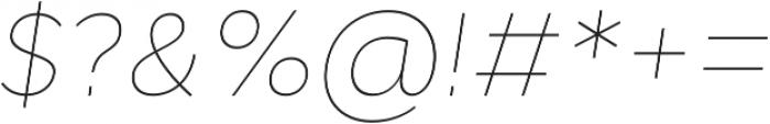 Cyntho Pro Thin Italic otf (100) Font OTHER CHARS