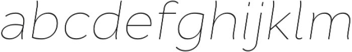 Cyntho Pro Thin Italic otf (100) Font LOWERCASE