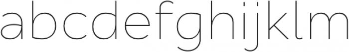 Cyntho Pro Thin otf (100) Font LOWERCASE