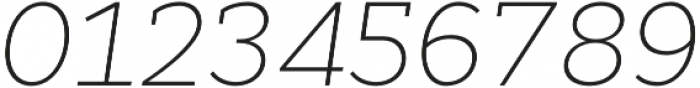 Cyntho Slab Pro ExtraLight Italic otf (200) Font OTHER CHARS