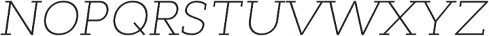 Cyntho Slab Pro ExtraLight Italic otf (200) Font UPPERCASE