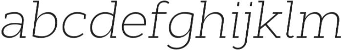 Cyntho Slab Pro ExtraLight Italic otf (200) Font LOWERCASE