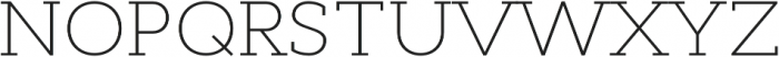 Cyntho Slab Pro ExtraLight otf (200) Font UPPERCASE