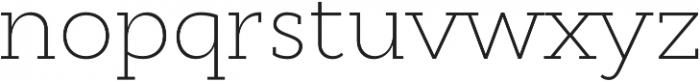 Cyntho Slab Pro ExtraLight otf (200) Font LOWERCASE