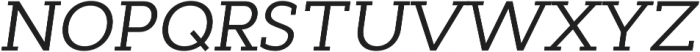 Cyntho Slab Pro Italic otf (400) Font UPPERCASE