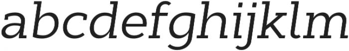 Cyntho Slab Pro Italic otf (400) Font LOWERCASE