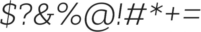 Cyntho Slab Pro Light Italic otf (300) Font OTHER CHARS