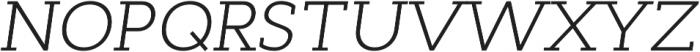 Cyntho Slab Pro Light Italic otf (300) Font UPPERCASE