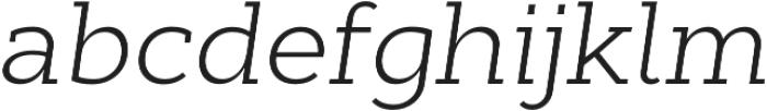 Cyntho Slab Pro Light Italic otf (300) Font LOWERCASE