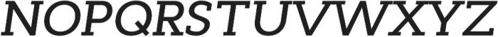 Cyntho Slab Pro Medium Italic otf (500) Font UPPERCASE