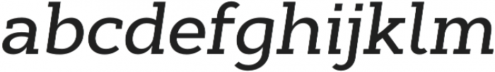 Cyntho Slab Pro Medium Italic otf (500) Font LOWERCASE