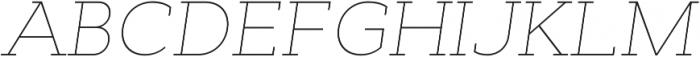 Cyntho Slab Pro Thin Italic otf (100) Font UPPERCASE