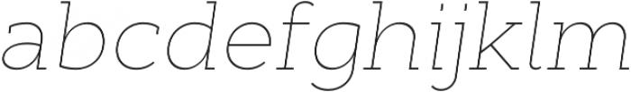 Cyntho Slab Pro Thin Italic otf (100) Font LOWERCASE