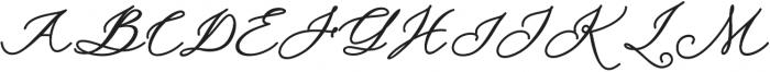 cynthia Regular otf (400) Font UPPERCASE