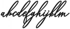 cynthia Regular otf (400) Font LOWERCASE