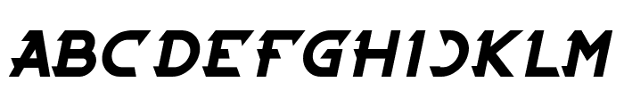 CYBERTOOTH Bold Italic Font UPPERCASE