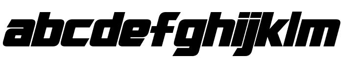 Cybertron Bold Italic Font LOWERCASE