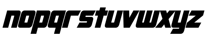 Cybertron Condensed Bold Italic Font LOWERCASE
