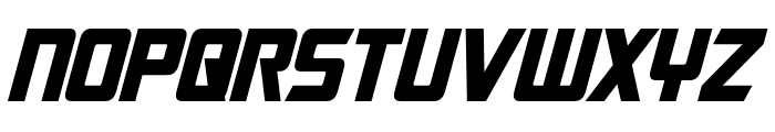 Cybertron Condensed Italic Font UPPERCASE