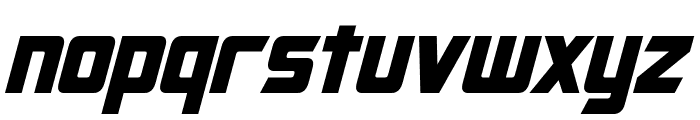 Cybertron Condensed Italic Font LOWERCASE