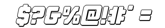 Cyborg Rooster Outline Italic Font OTHER CHARS