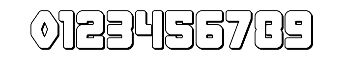 Cyborg Rooster Outline Font OTHER CHARS