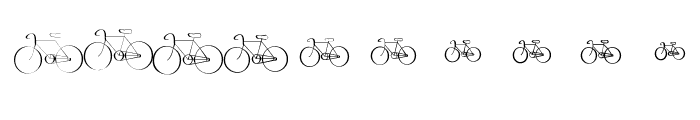 Cycling Font OTHER CHARS