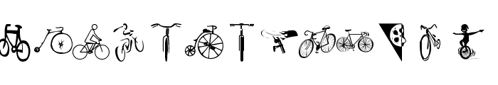 Cycling Font UPPERCASE