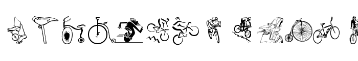 Cycling Font LOWERCASE